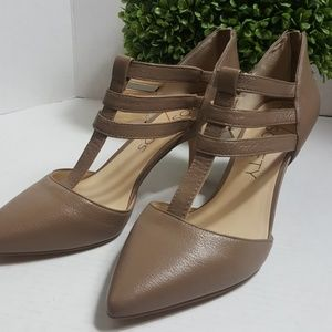 Sole Society Mallory T-strap heels Totally Taupe